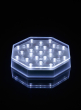 Octagon White LED Disk Party Lights