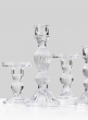 5 1/2in Clear Glass Pillar Holder, Set of 6
