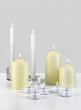 9in Tall Willow L.E.D. Flame Wax Taper Candle, Set of 2