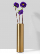 Bretagne Matte Gold Steel Cylinder Vase, 8in H