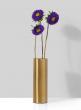 Bretagne Matte Gold Steel Cylinder Vase, 6in H