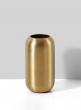 Bretagne Matte Gold Steel Capsule Vase, 5 1/2in H