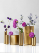 Bretagne Matte Gold Oblong Vase, 6in H