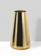 Alsace Shiny Gold Steel Round Tapered Vase, 8in H