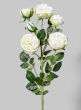 30in Blooming White Roses Spray