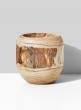 8in Paulownia Wood Fishbowl Vase