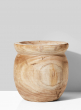 10in Paulownia Wood Fishbowl Pot