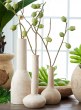 14in Wood Bottle Vase