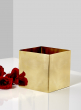 5in Polished Brass Cube Vase