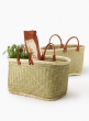 Natural Straw & Raffia Bags With Leather Handles