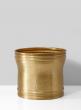 12in Antique Brass Planter