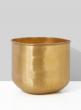 10in Hammered Antiqued Brass Cube Vase