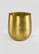 6in H Raw Brass Round Pot