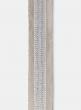 Lurex Trim Silver Dupioni Ribbon