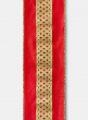 Diamond Circle Center Red Dupioni Ribbon