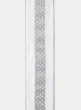Silver Diamond Glitter White Dupioni Ribbon