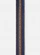 Antique Copper Trim Navy Dupioni Ribbon