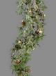 Iced Pine Garland With Pine Cones & Jingle Bells