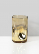4in x 6in Gold Ombre Divot Glass Votive Holder