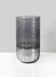 4in x 7 1/2in Diamond Cut Smoke Glass Candle Hurricane
