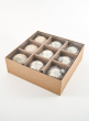 3in Gold Mix Glass Ornament Balls, Set of 9