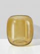 5in Dark Amber Capsule Glass Vase