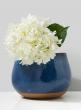 Blue Ceramic Potter's Vase, 8 1/2in