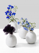 White Ceramic Bottle Bud Vase, Set of 4