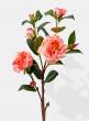 peach silk roses spray