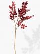 28in Red Metallic Leaf Spray