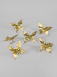 Gold Glitter Butterfly Ornament, Set of 6