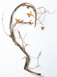 76in Gold Vine With Butterflies