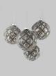 4in Blown Mercury Glass Ball Ornament, Set of 4
