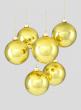 4in Shiny Gold Glass Ball Ornament, Set of 6
