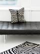 zebra pattern wool decorative pillow