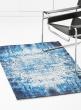 antique blue elegance cotton rug