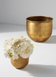 4in & 6in Antique Brass Vases