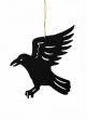 6in Die Cut Black Crow Ornament, Set of 6