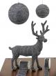 Black With Silver Diamond Bead Balls, Deer & Ribbon