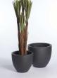Black Terrazzo Fiberstone Pots