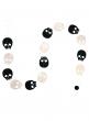 black white skull garland halloween party decor