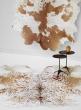 brown genuine cowhide leather animal area rug
