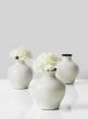 black and white glazed ceramic vase for wedding centerpieces