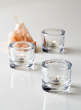 clear glass tealight holder party event decor