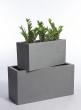Grey Fiberstone Rectangular Planters