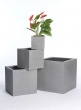 Grey Fiberstone Square Pots