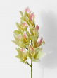 light green artificial orchid spray