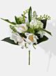 magnolia hydrangea white silk flower bridal bouquet