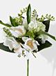 white magnolia hydrangea fern wedding bouquet