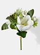 white magnolia succulent wedding bouquet